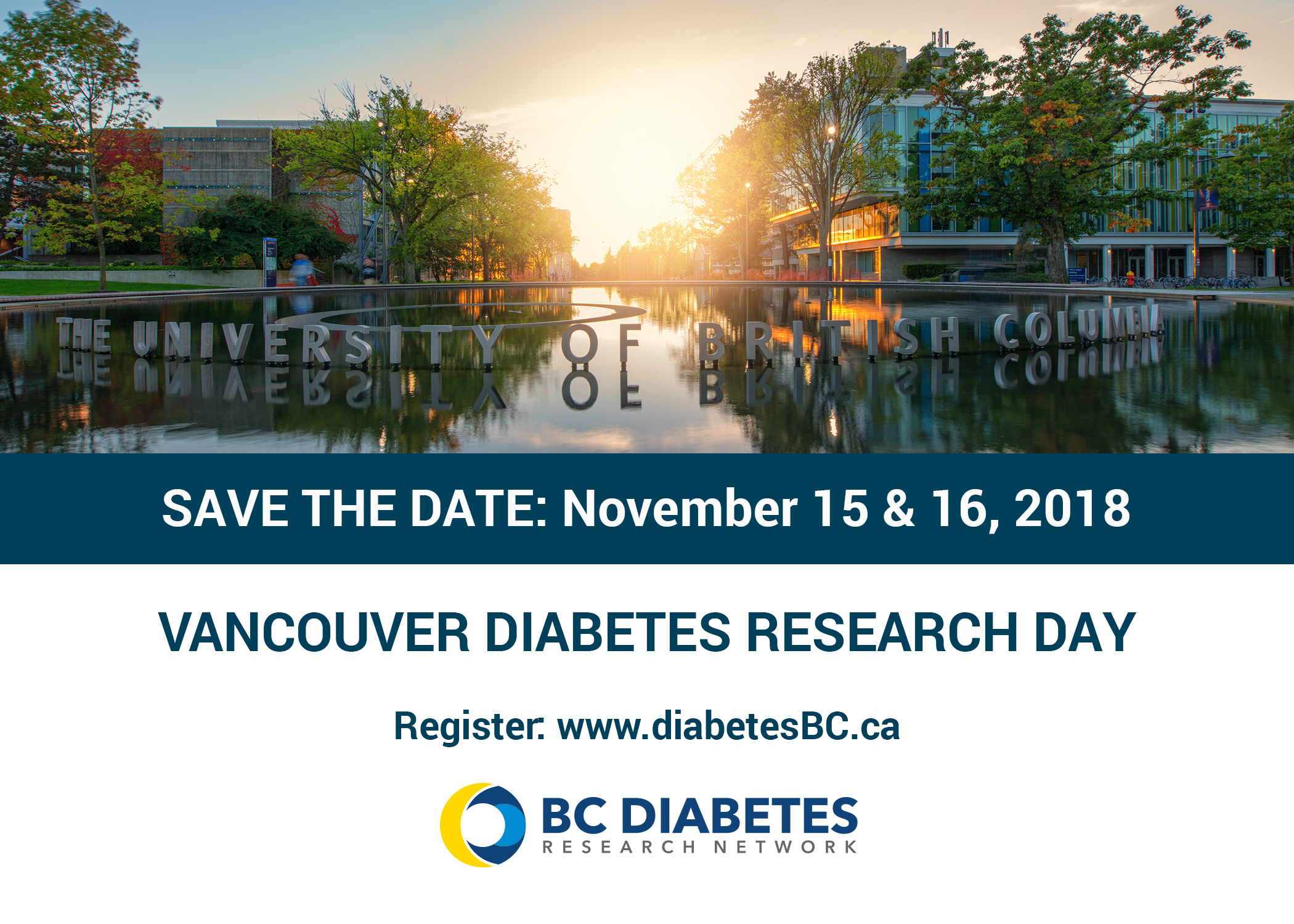 Vancouver Diabetes Research Day - Save the Date