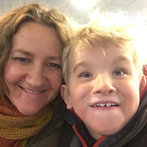 Julie and her son Alistair