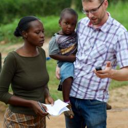 Doctor, nurse and patient in Uganda